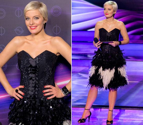 A második középdöntőben Katti Zoób haute couture ruhájában láthatták a nézők - a húszas éve charleston stílusa modern köntösben.