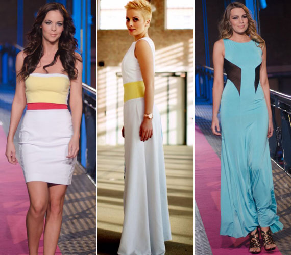 A fehér alapszín az idei nyár egyik slágerével, a sárgával kiegészítve rövid és hosszú verzióban is divatos, csakúgy, mint a másik divatszín, a türkiz.
