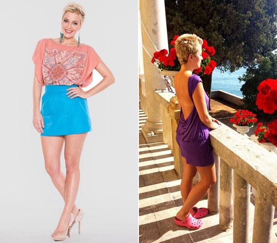 A többnyire tűsarkúban és nőies ruhákban látható Tatár Csilla a horvátországi nyaralásáról osztotta meg a jobb oldali fotót. Az általa viselt pink gumiklumpa hiába kényelmes, sokak szerint mára már ciki lett.