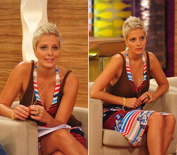 Nyáron többször is a szokásosnál lengébb öltözetben vezette a reggeli műsort.