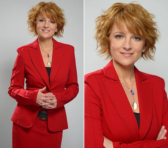 Az RTL Klub híradósa, Boros Krisztina a visszafogott kosztümre esküszik.