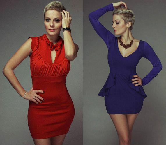 Ezeket a darabokat a TV2 műsorvezetője tervezte. A nőies idomokkal rendelkező nőkön mutatnak a legjobban.