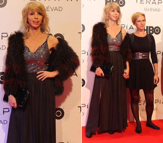Péterfy Bori színésznő, énekesnő a sorozat egyik rendezőjével, Nagypál Orsival - mindketten a második évaddal debütálnak a Terápiában.