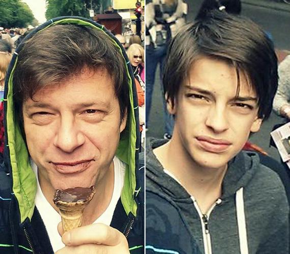 Legnagyobb fia, Andor sokak szerint édesanyjára hasonlít, a műsorvezető ellenben úgy gondolja, hogy nagyobbik fia is rá ütött.