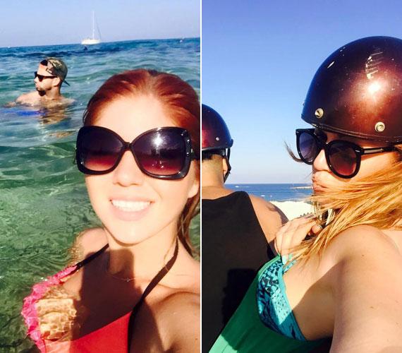 Mielőtt bárki hiányolná a ciprusi nyaralásán készült képekről Kállay-Saunders Andrást, itt van két fotó, ami azt bizonyítja, hogy az énekesnő párjával fedezi fel a szigetet.