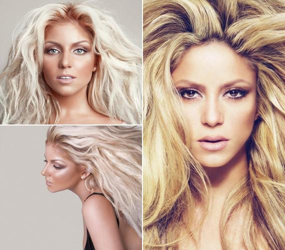 Tolvai Reni nagy sörénnyel, világosabb hajszínnel, bronzosított bőrrel - még a sminkje is Shakiráéra hajaz, nem véletlenül hasonlítják a kolumbiai énekesnőhöz az új fotóin.