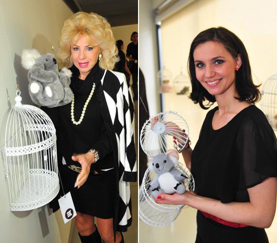 Medveczky Ilona és az egykori Jóban Rosszban-színésznő, Brózik Klára is egy-egy koala mackót tett a kalitkába.