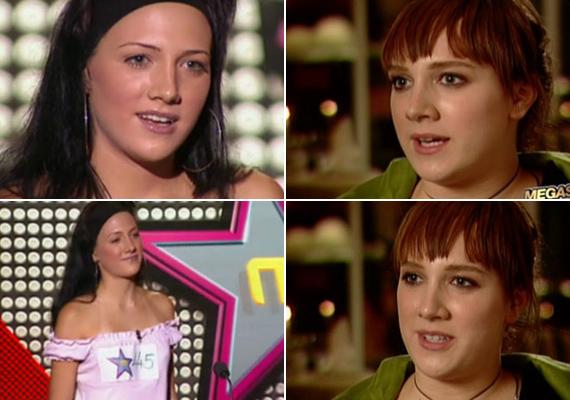 2004 őszén a Megasztár második évadába jelentkezett a kisebbik Tóth lány, ekkor még egészen ártatlan megjelenéssel.