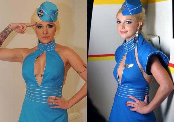 Tóth Gabi mellett az igazi Britney Spears egy szende szőke leányzónak tűnik.