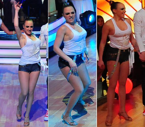Tóth Gabi ruhaválasztásáért a legtöbb kritikát az idei Szombat esti lázban való szereplése idején kapta: az RTL II táncos szórakoztató műsorának rögtön a nyitó adásában melltartót sem húzott a fehér kis trikó alá, így a heves mozdulatok a mesterségesen megnövelt melleire irányították a figyelmet.