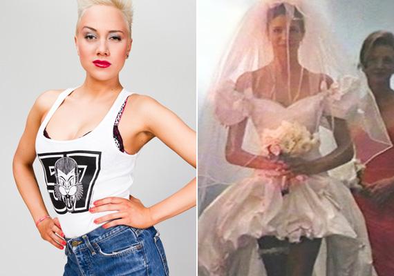 Gabi a November Rain klipjében szereplő szexis menyasszonyi ruhát nézte ki magának, amit a videóban Stephanie Seymour modell viselt.