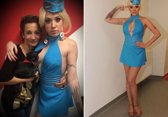 Tóth Gabi a második adásban szexbombát robbantott, amikor Britney Spears Toxic című számát ebben a szerelésben adta elő - dögösebb volt, mint az amerikai énekesnő.