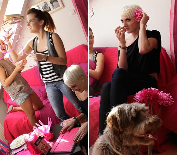 A sztárok rózsaszínűre dekorálták a lakást, és kíváncsian várták, hogy mi történik Sharpay-jel és kutyájával, Boival.