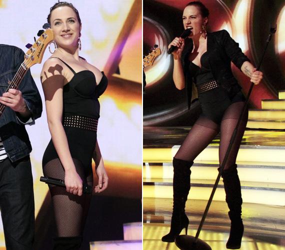 Az M1 egy korábbi, februári műsorában, A Dal harmadik elődöntőjében is ledér öltözetben állt színpadra.