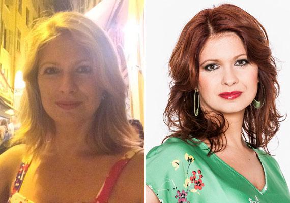 Andor Éva híradós, aki májusban távozott a TV2-től, idén nyáron váltott vörösről szőkére.