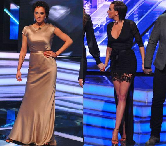 A kilencedik élő show-ban egyik alkalommal egy visszafogott, arany selyemruhát, illetve egy alul-felül sokat mutató, csipkével díszített kreációt vett fel.