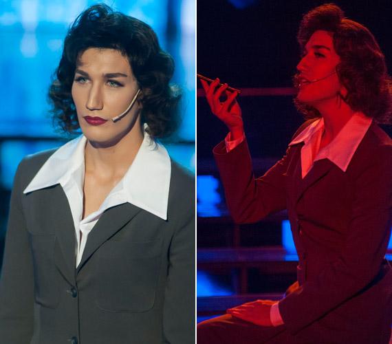 Pál Dénes a búgó hangú színésznő, Karády Katalin bőrében a Hamvadó cigarettavég című dalt énekelve teljesen lenyűgözte Liptai Claudiát, aki maximális pontszámmal jutalmazta.