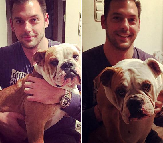 Tóth Vera és szerelme együtt élnek. Szerencsére a kutyák iránti rajongásuk közös, így nem csak ketten élnek a háztartásban.