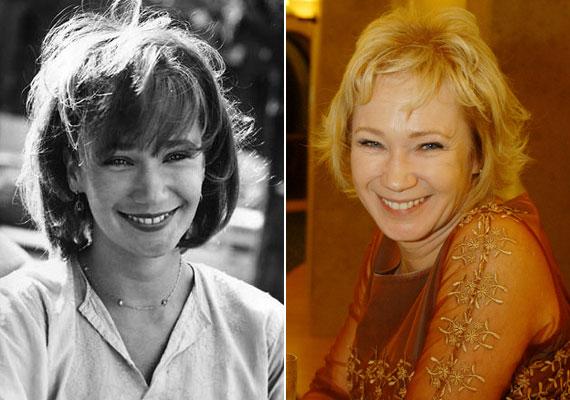 1975-ben még a Színművészeti hallgatójaként és 2005-ben Törőcsik Mari 70. születésnapján - a mosoly mit sem változott.