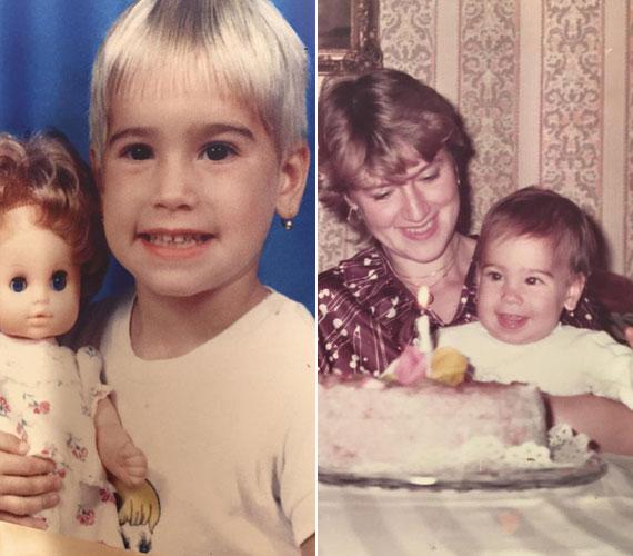 Vajna Timi kisgyerekként tejfölszőke, rövidre nyírt hajú kislány volt. Egyéves babaként nagyon csinos anyukája ölében örült első szülinapi tortájának.