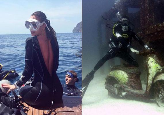 Vajna Tímea még a búvárkodásról is dögös képet posztolt közösségi oldalára. A pózolás a víz alatt sem maradt el.