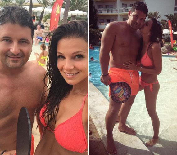 Hajdú Péter és Sarka Kata gyerekeikkel Mallorcán, egy négycsillagos hotelben vakációztak, ahol a kétgyerekes anyuka bikinis alakját rengetegen megcsodálhatták.