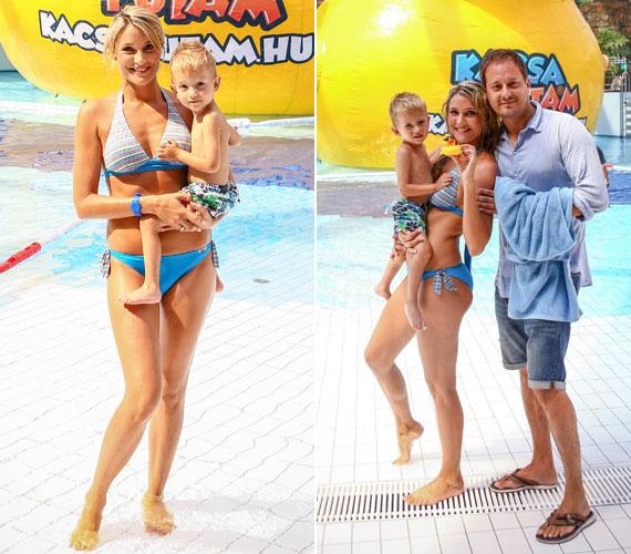 Edinának és a Barátok közt zeneszerzőjének, Som Krisztiánnak a kisfia, Noel májusban volt kétéves. A 31 éves színésznő a szülés után hamar visszanyerte az alakját, bikiniben is bombázó.