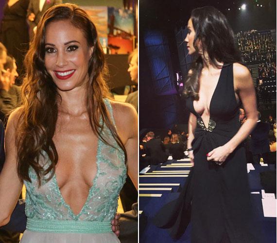 Vajna Tímea a Miss Universe Hungary háziasszonyaként egy köldökig kivágott Zoób Kati estélyiben keltett feltűnést. Egy másik nagyszabású rendezvényen, a Victoria's Secret show-ján nézőként bújt túl mélyen kivágott kreációba.