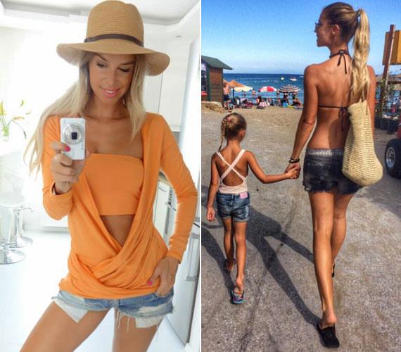 Dukai Regina az egyik legszebb magyar modell, aki sokat edz és jógázik, hogy alakja ilyen tökéletes legyen.