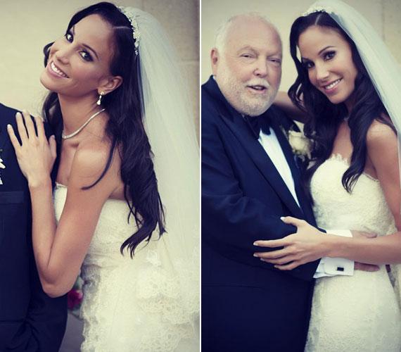 Amikor 2013 augusztusában feleségül ment Andy Vajnához, már a neves divattervező, Oscar de la Renta által megálmodott menyasszonyi ruhát viselte, sminkjét és frizuráját profi segítőknek köszönhette.