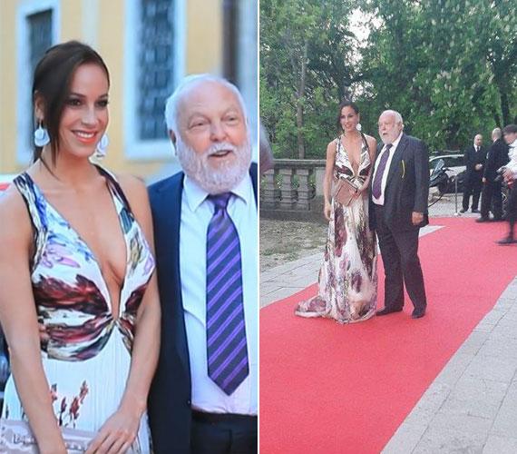 Vajna Tímea egy köldökig kivágott ruhában pózolt a vörös szőnyegen férjével, Andy Vajnával.