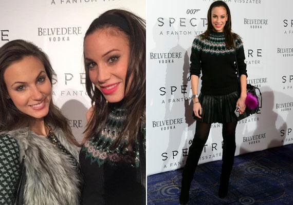 Vajna Tímea nem öltözte túl a díszbemutatót, rövid rakott szoknyát, vastag pulóvert és térdcsizmát húzott. A Miss Universe Hungary idei győztese, Nagy Nikoletta kísérte el a filmre.