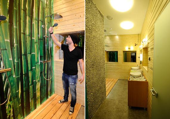 A villa zöld jellege a fürdőszobában a leglátványosabb.