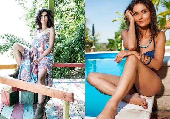 Kihívó pózban üldögél a Duna partján és fürdőruhában a medence szélén. Ezeket a képeket látva el sem hisszük, hogy Varga Izabella már 42 éves!