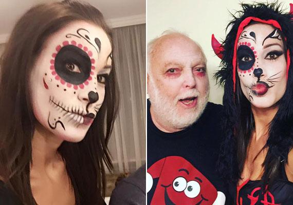 Vajna Tímea nem bízta a véletlenre a halloweenkor viselt álarcot, profi sminkes festette ki. Hogy Andy Vajnát is szakember, vagy a felesége festette-e ki, azt nem tudni.