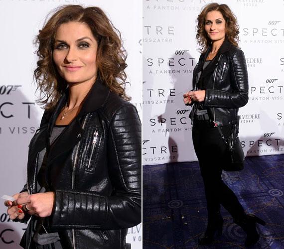 Varga Iza, a Barátok köztben többnyire visszafogottan öltözködő Nórát alakító színésznő az új James Bond-film premierjének egyik legdögösebb sztárja volt.