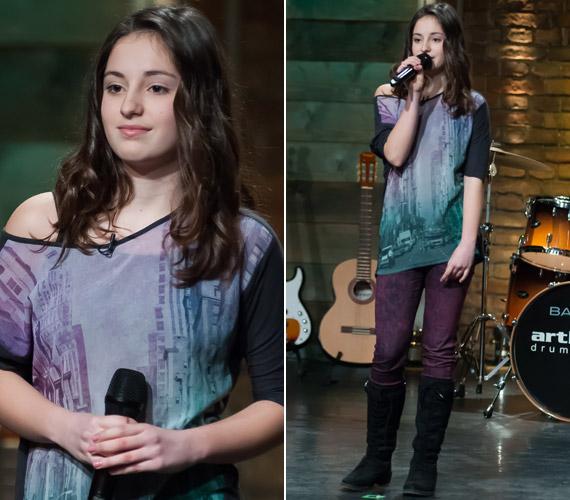 Varga Vivien 13 éves, hetedik osztályos tanuló, aki kicsi kora óta énekesnőnek készül. Az ének iskolája zsűrijét lenyűgözte. A videót ide kattintva nézheted meg »