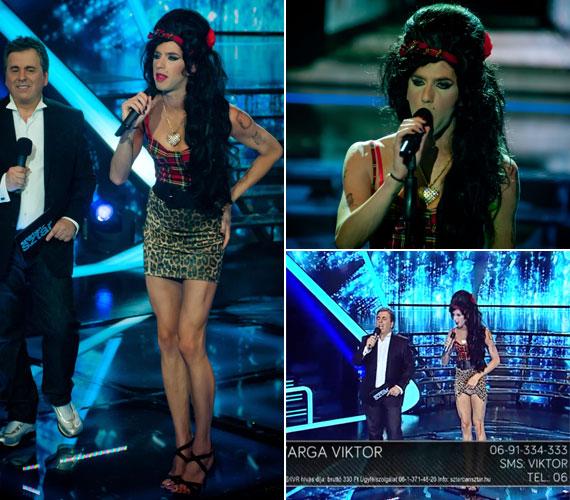 Varga Viktor külsőre kiköpött Amy Winehose volt. Hajós dicsérte, hogy nem akarta elváltoztatni a hangját, hanem stílusában és kiejtésben utánozta csak le a néhai énekesnőt.