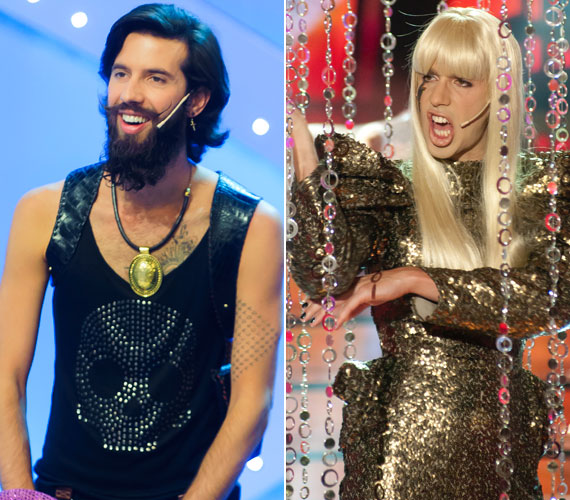 Varga Viktornak a 27 éves amerikai énekesnőt, Lady Gagát kellett alakítania a színpadon.