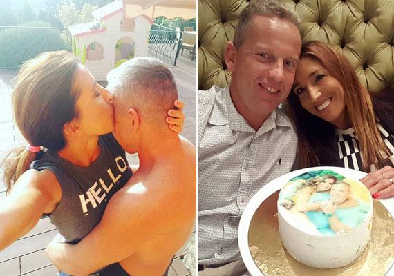 Rubint Réka 14 év után is ilyen szerelmesen nyomott nemrég egy reggeli puszit férje, Schobert Norbi arcára. Idén ünnepelték a 13. házassági évfordulójukat. Három gyermeket nevelnek.
