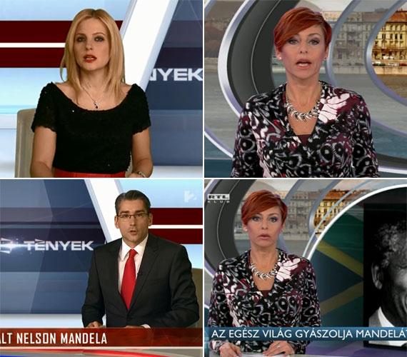December 6-án, a Nelson Mandela halálhírével indító híradóban a TV2 ügyelt a részletekre: bár piros kiegészítőkkel, de feketébe öltöztette Várkonyi Andreát és Azurák Csabát is. Az RTL Klubon ezzel egy időben az egyedül híradót vezető Erős Antóniára nem adtak a műsor készítői gyászruhát.