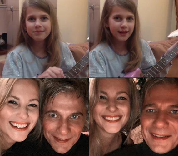 Nóri jól megnőtt, és olyan szép, mint az anyukája - olvasható a kommentekben a gitározó és éneklő kislány videója mellett. Az iskolás lányka a két műsorvezető szeme fénye, igazából mindkettejükre hasonlít. Szerinted?
