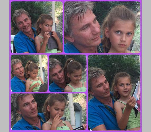 Bochkoraim - írta Várkonyi Andrea ehhez a július végén készült fotóhoz, amelyről süt, hogy a rádiós mennyire odáig van kislányáért.