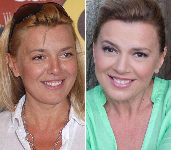 Borbás Marcsi, a köztévé Gasztroangyal című műsorának háziasszonya smink nélkül és egy leheletnyi festékkel.