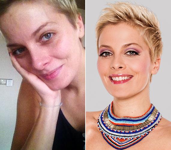 Tatár Csilla, a TV2 Mokka című reggeli műsorának háziasszonya smink nélkül is bájos.