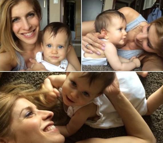 Béres Alexandra szerint kislánya, Flóra olyan mozgékony, amilyen ő is volt, a büszke anyuka nem csodálkozna, ha a kicsi lány is sportolóvá válna.