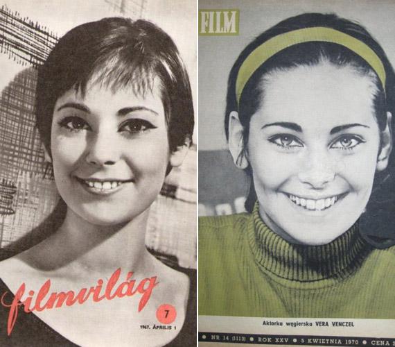 A gyönyörű színésznő itthon és külföldön is szerepelt címlapokon, így például az 1967-es Filmvilágén, Révész György Egy szerelem három éjszakája című filmjének szereplőjeként.