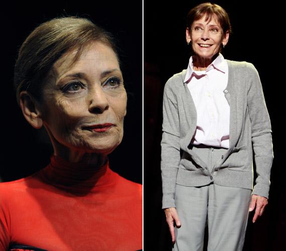 45 éve a Vígszínház tagja, ahol 2014. január 4-én mutatták be Zsótér Sándor rendezésében a Téli utazás - bal oldali fotó - című darabot. A jobb oldalon a Sógornők című előadásban látható, melynek a premierjét 2013 júniusában tartották.