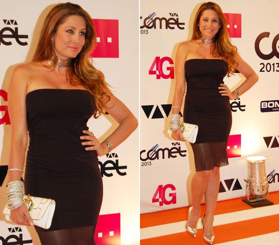 Horváth Éva modell-műsorvezető a klasszikus kis fekete egy roppant nőies változatát választotta - természetesen a Magenta kollekciójából.