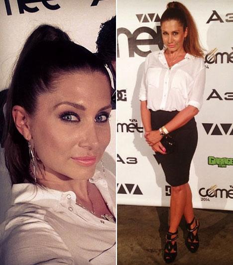 Horváth ÉvaA VIASAT3 műsorvezetőjére az egyszerű fehér ing, fekete szoknya kombóban sem lehetett azt mondani, hogy túl kislányos lett volna - pláne nem ezekkel a szemekkel.